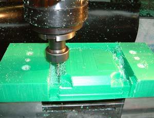 Thick plastic machining